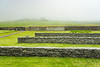 Jarlshof prehistoric and Norse settlement archaeological site in Shetland, Scotland, United Kingdom, Europe.