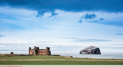 Bass Rock and Tantallon castle