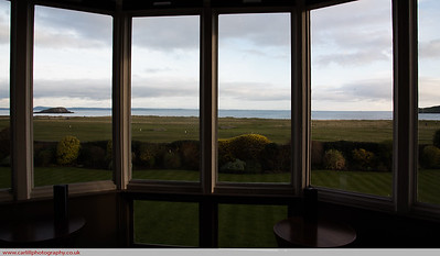 View from the hotel over North Berwick golf course