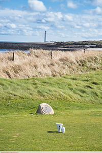 Dunbar golf course and lighthouse