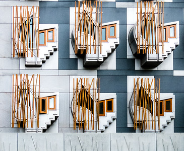 New Scottish Parliament building detail