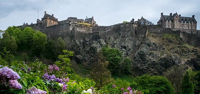 Edinburgh Castle from Princes Gardens