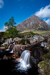 Etive Mor Waterfall - River Coupall