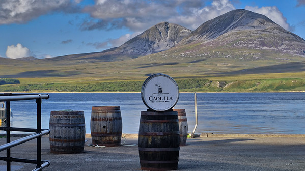View of Jura from Caol Ila distillery