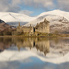 Kilchurn Castle Winter Reflection -3 (letterbox)