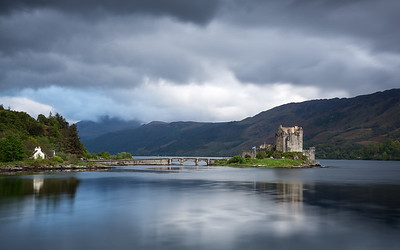 The Scottish Saltire Flag flys at Eilean Donan Castle