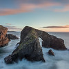 Sunset & Stac-a-Phris Natural Rock arch