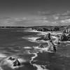 Mangersta Sea Stacks at sunset - Black & White