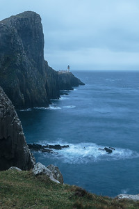 Neist Point in a gale