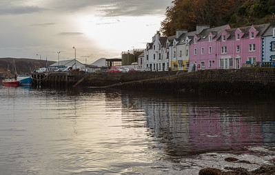 Reflections, Portree harbour front