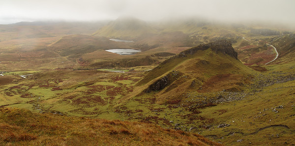Early morning mist at The Quiraing