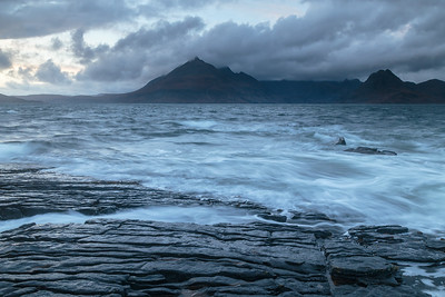 Rocks washed by high tide, Elgol.