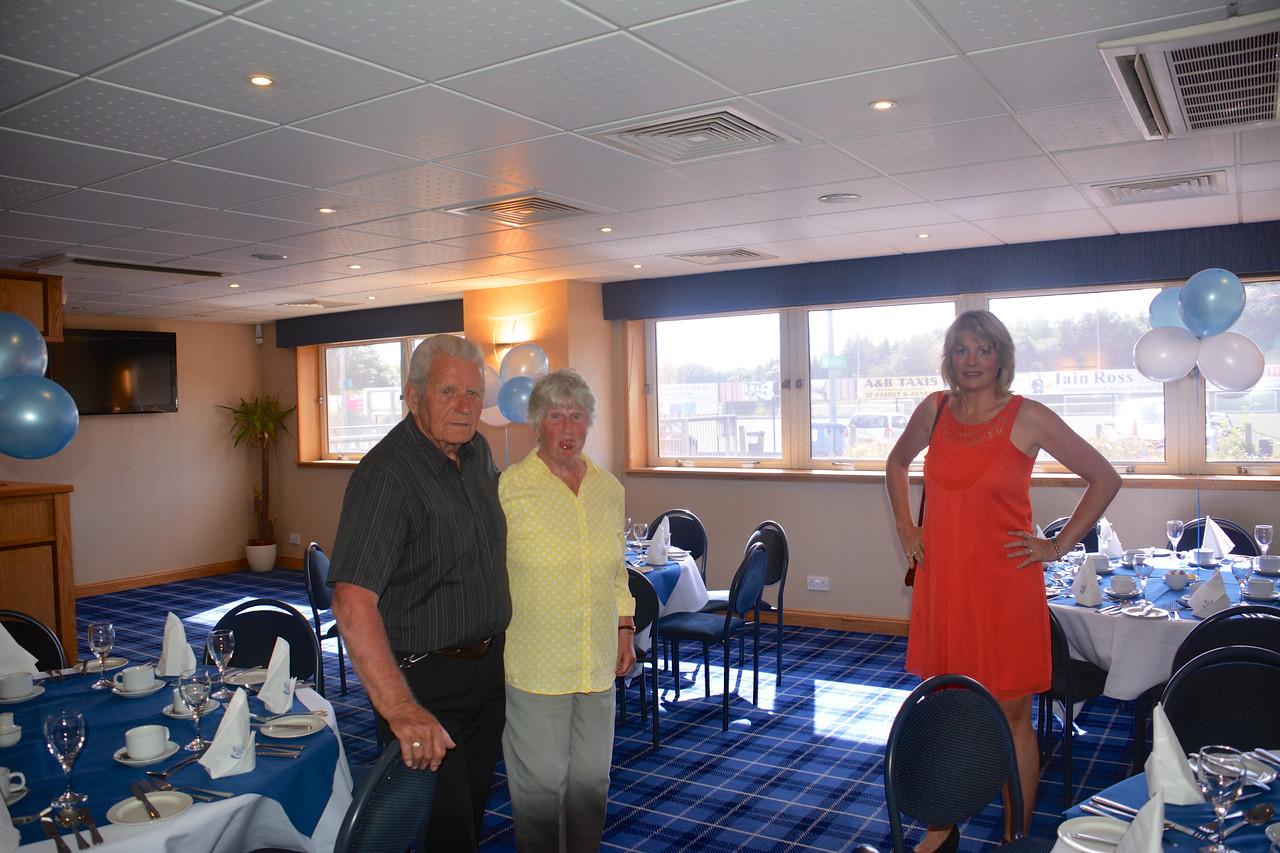 Eddie Janet Jan Scotland Granny Grandad Golden Wedding July 2014