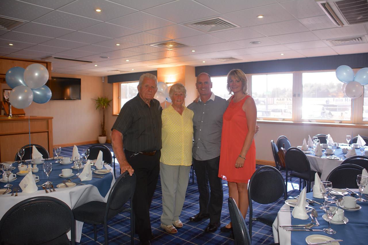 Eddie Janet Brian Jan Scotland Granny Grandad Golden Wedding July 2014