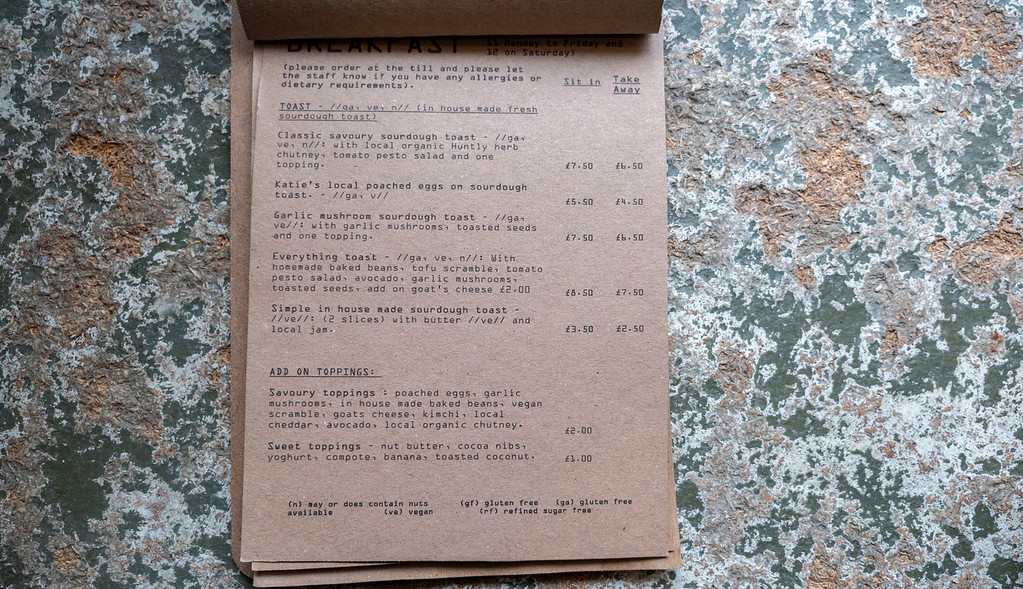 Breakfast menu of Foodstory Cafe - Aberdeen Vegan