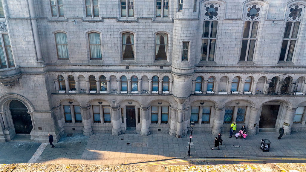 Royal Athenaeum Suites in Aberdeen, Scotland - Views from our window