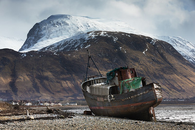 Ben Nevis Taken from the Beach at Corpach (Near Fort William)