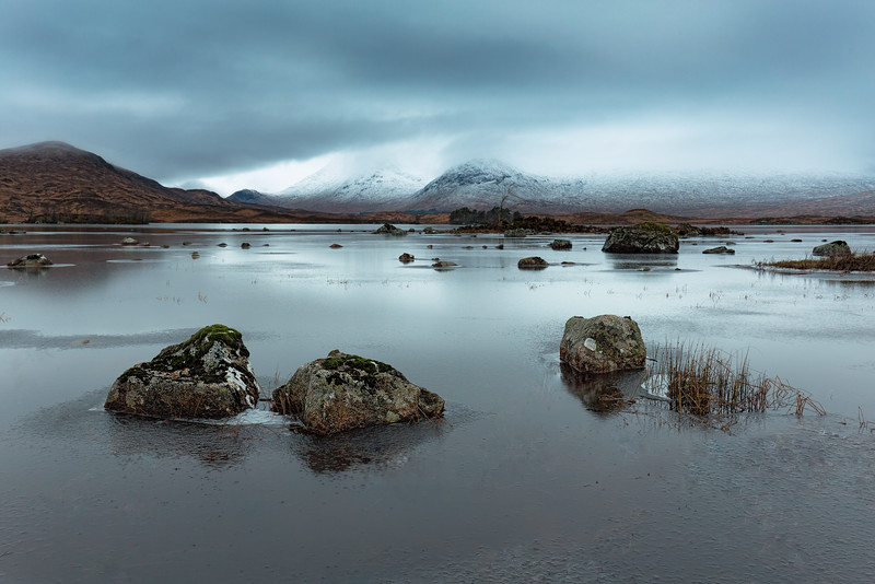 Rannoch Moor at Sunrise Overlooking the Black Mountain
