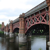 The Union Railway Bridge, or Clydebridge Viaduct, that crosses the River Clyde between Gorbals and Bridge Gate. The first bridge on the site was built by the City Of Glasgow Union Railway to serve St Enoch Railway Station, and the current bridge was built by the Glasgow & South Western Railway in 1902 when St Enoch was extended. When St Enoch closed in 1966 the line became redundant to passenger working, but the bridge was retained for empty coach working, freight and charter work.
