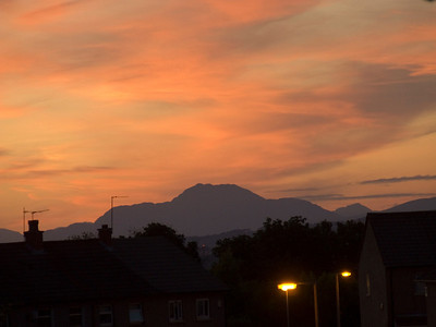 Ben Lomond, as seen at sunset