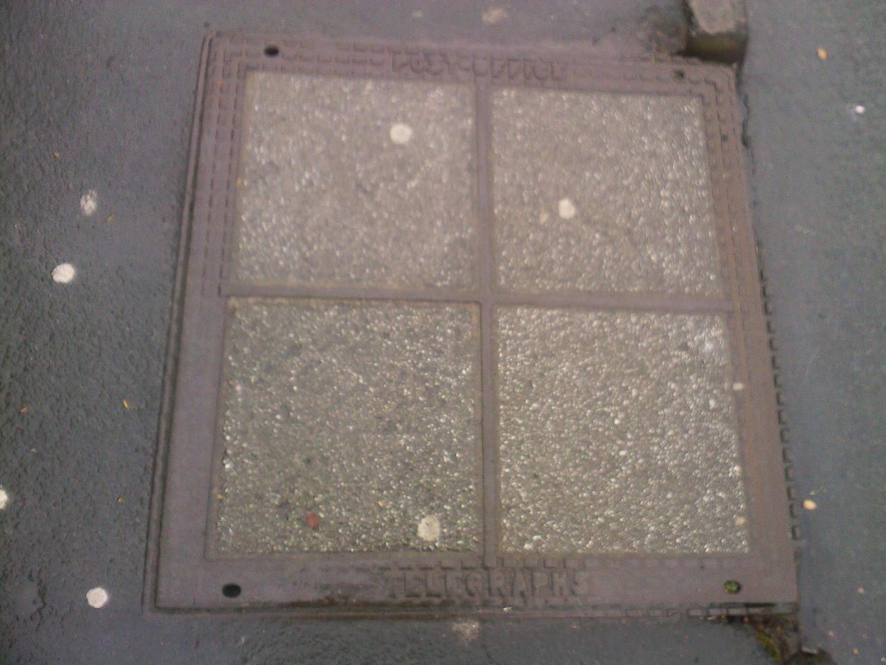 Post Office Telegrams, manhole cover