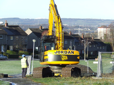 Legacy of Johnstone's past, a hole that opened in the ground when old pit workings collapsed.