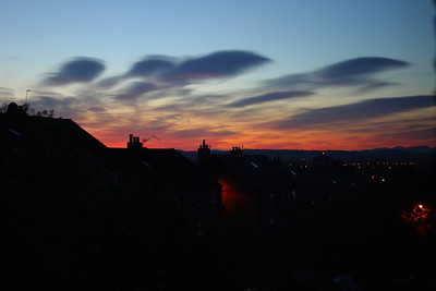 Strange cloud formations at sunset