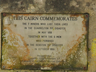 The cairn that commemorates the miners that died in the Benston Pit disaster