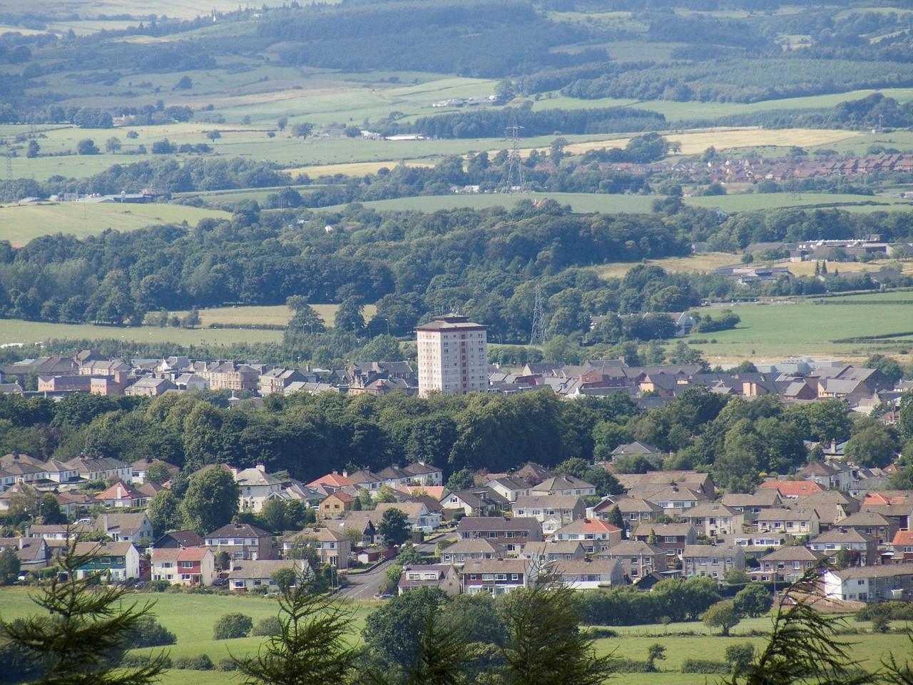 Johnstone and Elderslie from Glennifer Braes in Paisley