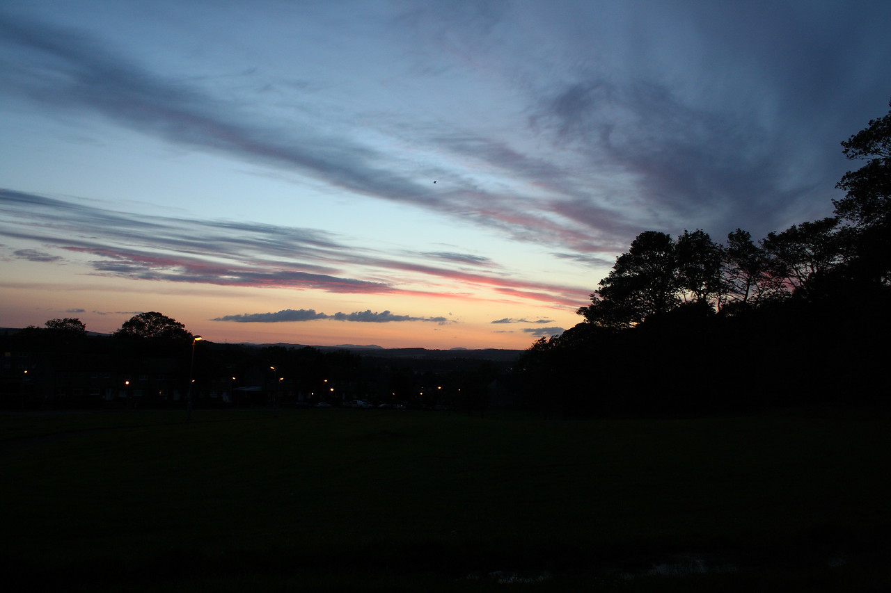 Sunset, looking over Johnstone
