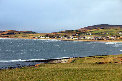 Blackwaterfoot from across Drumadoon Bay. 2 January 2012
