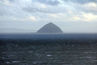 Ailsa Craig, of the south end of Arran. 2 January 2012