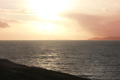 Setting sun over the Mull of Kintyre. 2 January 2012