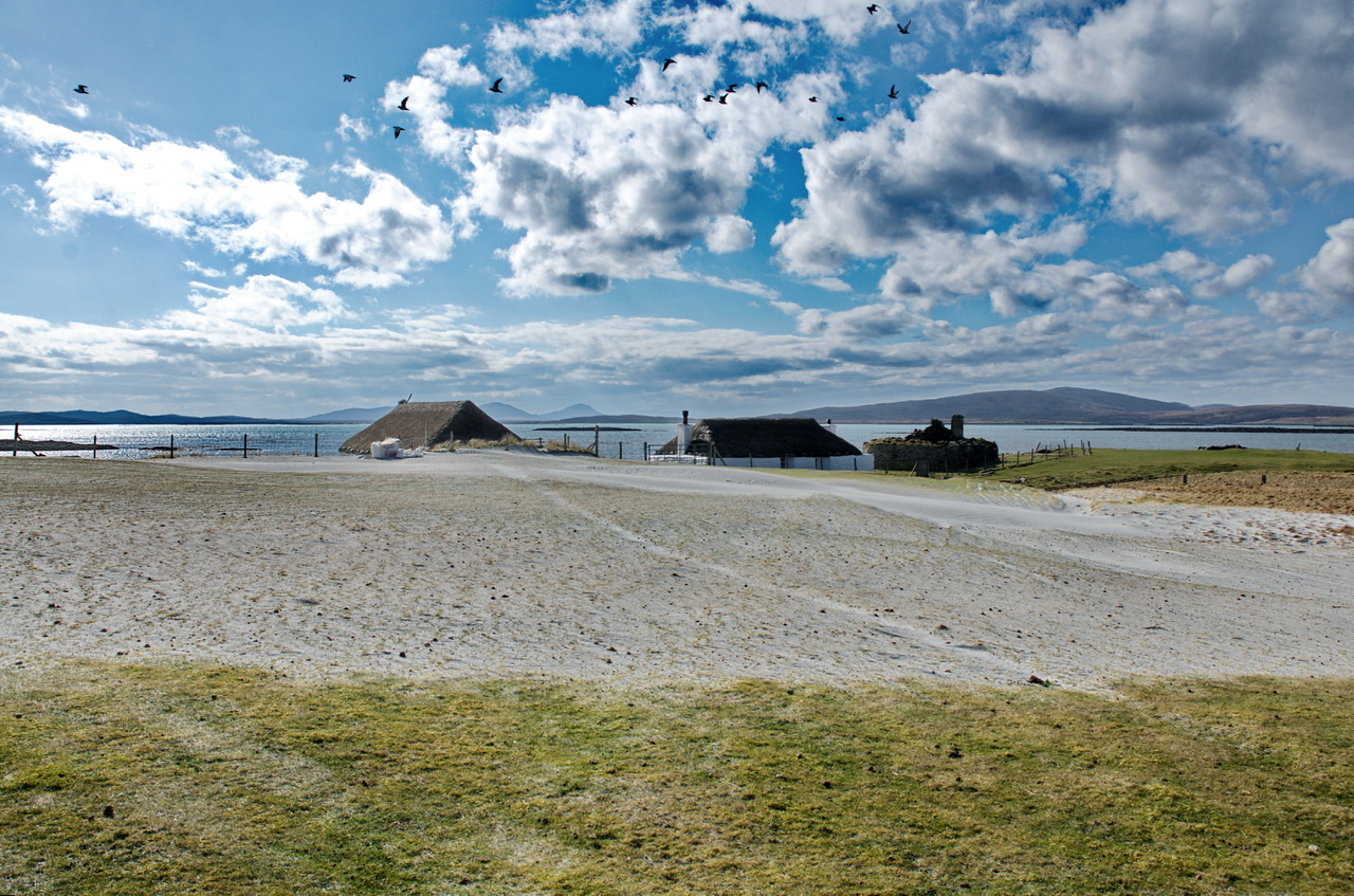 Sand Dunes in front of Berneray Hostel