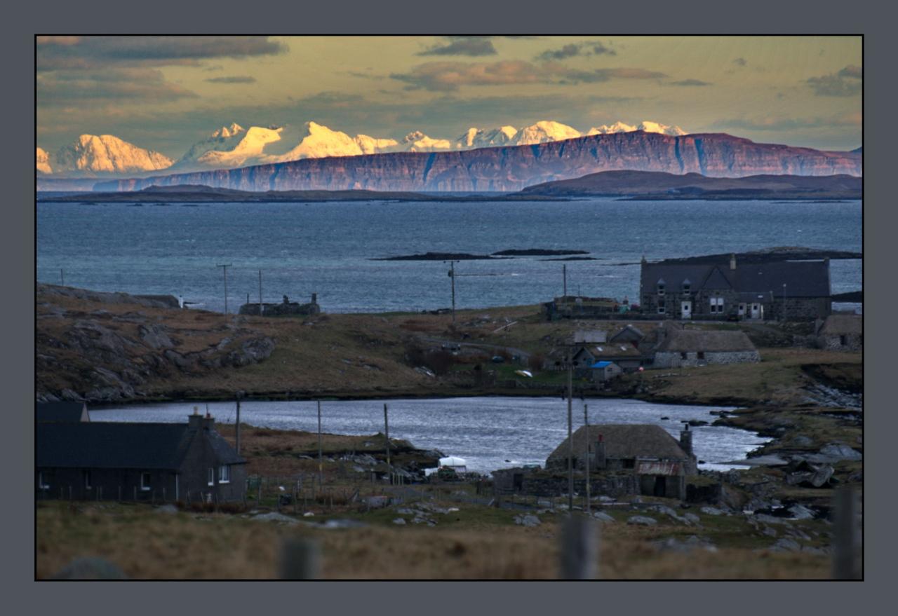 Berneray, Skye in the distant