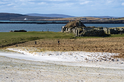 Sand Dunes in front of Berneray Hostel