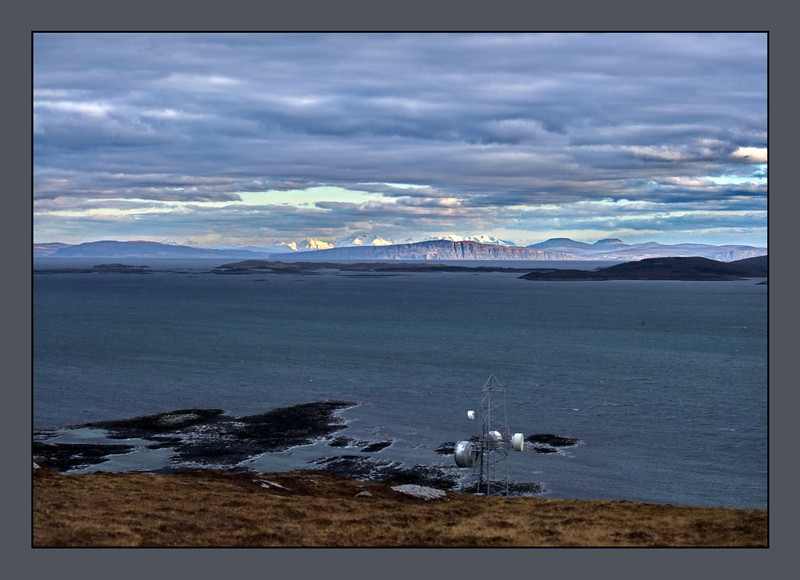 Berneray, Borve Hill, Skye in the distant