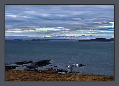 Berneray, Borve Hill, Skye in the distant