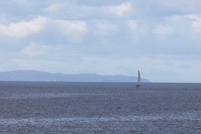 A catamaran in the Little Minch