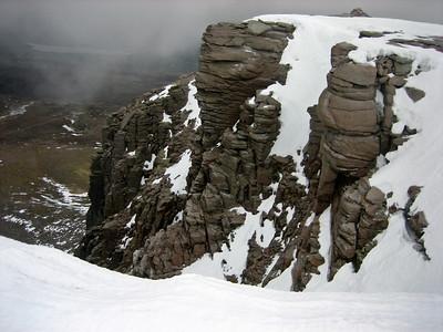 The cliffs of Carn Lochan