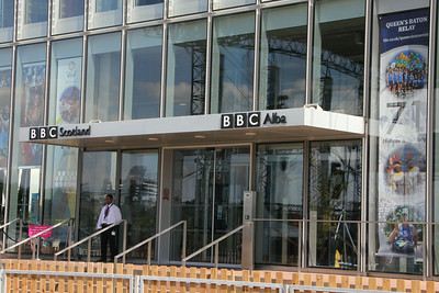 Entrance to the BBC at PAcific Quay. 25 July 2014