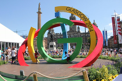 Commonwealth Games emblem in George Square. 25 July 2014