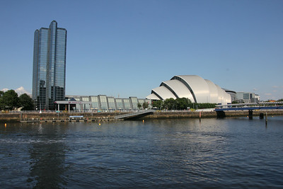 The Armadillo (Clyde Auditorium) from Pacific Quay. 25 July 2014