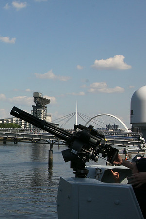 Machine Gun on HMS Bangor. 25 July 2014