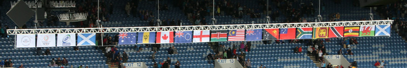 The flags of the participating nations.