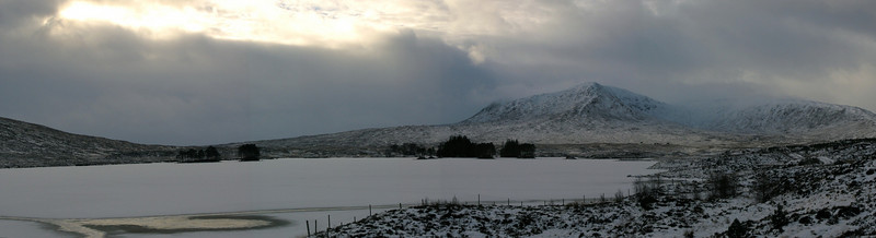 Looking back to Loch Ossian Hostel & Corrour Station House, December 10