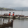 The paddlesteamer Waverley leaves Bute before us. This view from James and Phyllis's flat is rarely without interest