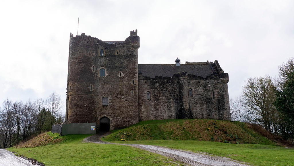 Doune Castle near Stirling, Scotland - Castle ruins to explore on a Scotland road trip