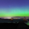 "Aurora Borealis Over ""The Bridge to Nowhere"""