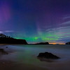 Aurora Borealis Seen From Seacliff Beach